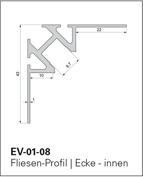 Fliesen Profil Ev 01 02 El 01 Aluminiumprofile Led Technik